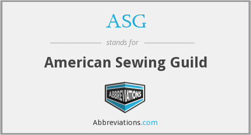 ASG - American Sewing Guild