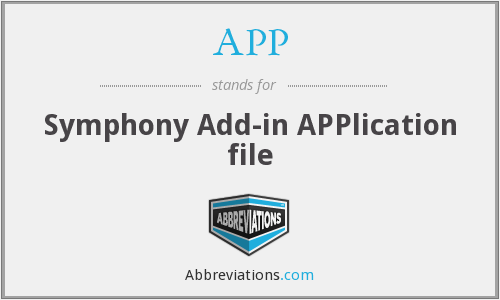 APP - Symphony Add-in APPlication file