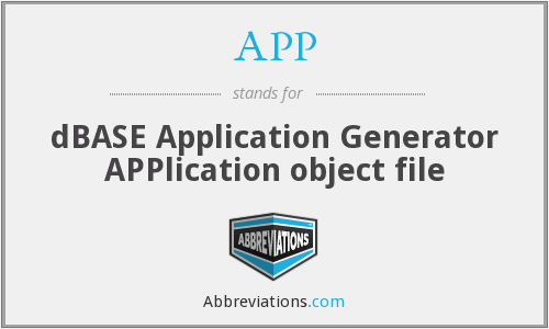 APP - dBASE Application Generator APPlication object file