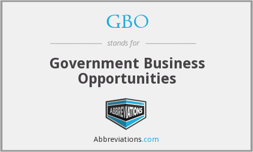 GBO - Government Business Opportunities