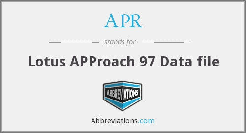 APR - Lotus APProach 97 Data file