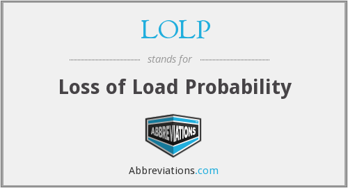 What does LOLP stand for?