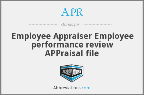 APR - Employee Appraiser Employee performance review APPraisal file