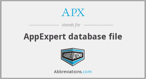 APX - AppExpert database file