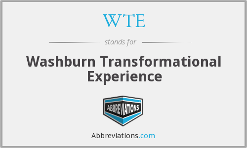 WTE - Washburn Transformational Experience
