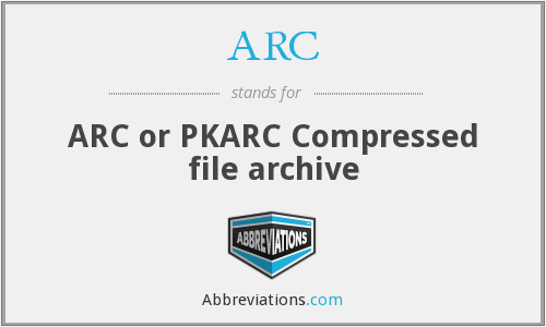 ARC - ARC or PKARC Compressed file archive