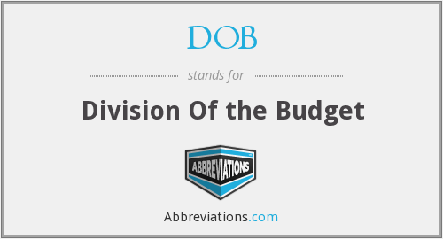DOB - Division Of the Budget