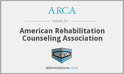 ARCA - American Rehabilitation Counseling Association