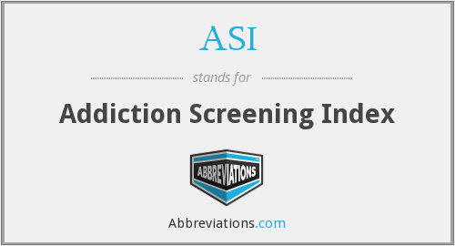 ASI - Addiction Screening Index