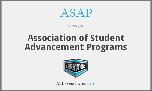 ASAP - Association of Student Advancement Programs