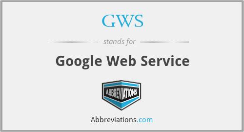 GWS - google web service
