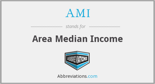 AMI - Area Median Income