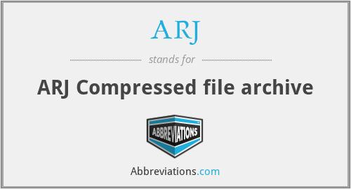 ARJ - ARJ Compressed file archive
