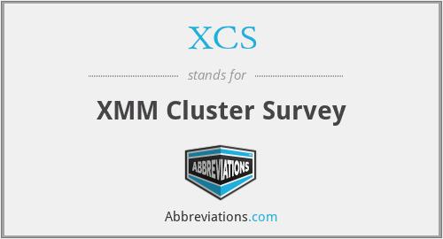XCS - XMM Cluster Survey