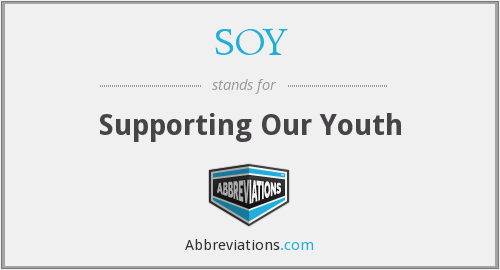 SOY - Supporting Our Youth