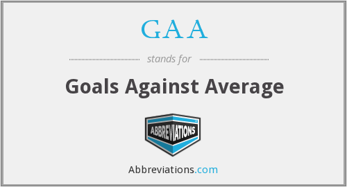 GAA - Goals Against Average