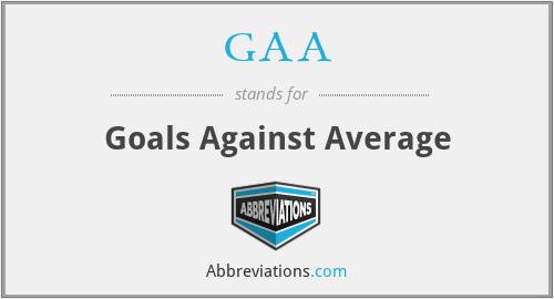 GAA - Goals Against Average