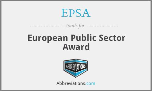 EPSA - European Public Sector Award