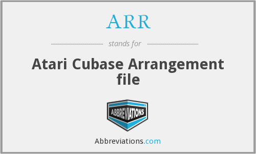 ARR - Atari Cubase Arrangement file