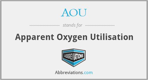 AOU - Apparent Oxygen Utilisation