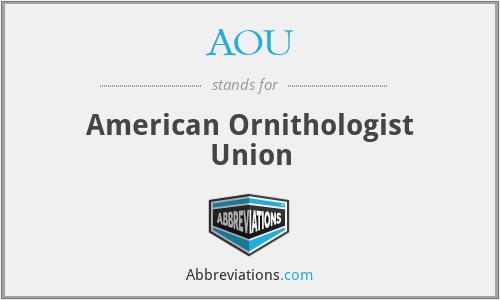 AOU - American Ornithologist Union