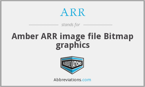 ARR - Amber ARR image file Bitmap graphics