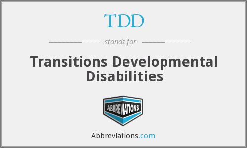 TDD - Transitions Developmental Disabilities