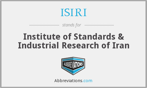 What does ISIRI stand for?