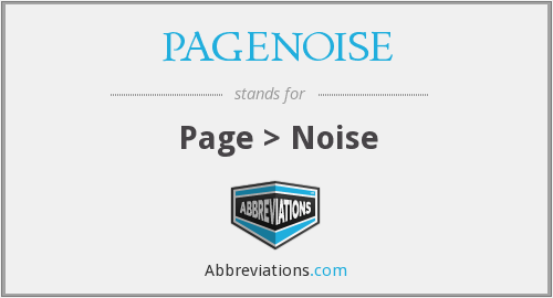 What does PAGENOISE stand for?