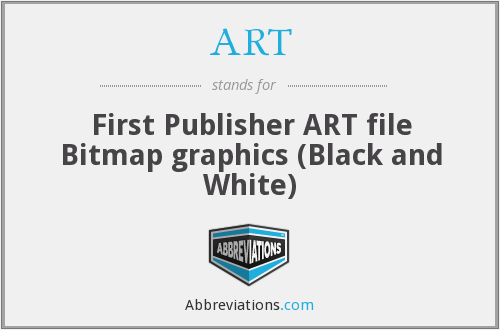 ART - First Publisher ART file Bitmap graphics (Black and White)