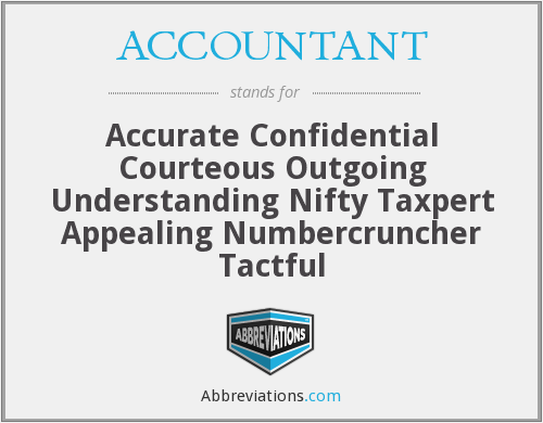 What does ACCOUNTANT stand for?