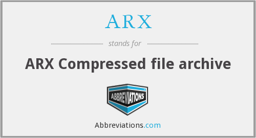 ARX - ARX Compressed file archive