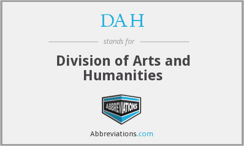 DAH - Division of Arts and Humanities