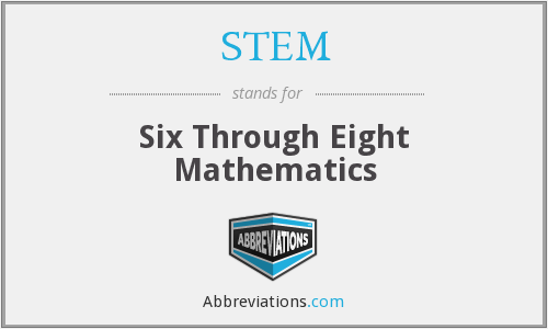 STEM - Six Through Eight Mathematics