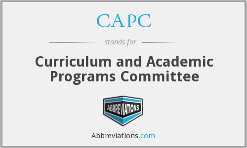 CAPC - Curriculum and Academic Programs Committee