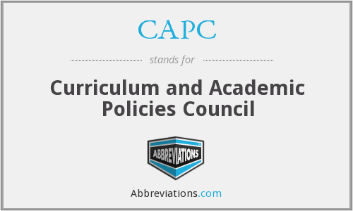 CAPC - Curriculum and Academic Policies Council