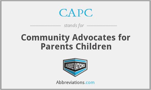 CAPC - Community Advocates for Parents Children