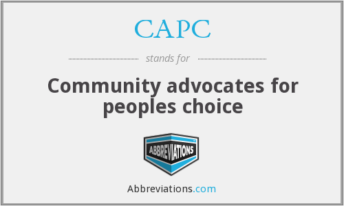 CAPC - Community advocates for peoples choice