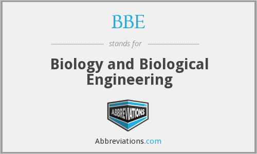 BBE - Biology and Biological Engineering
