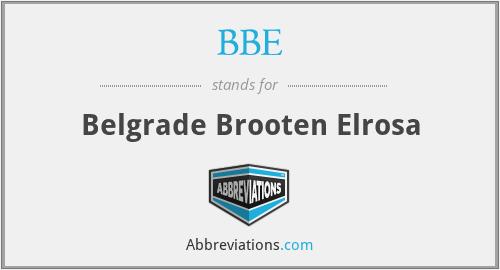 BBE - Belgrade Brooten Elrosa