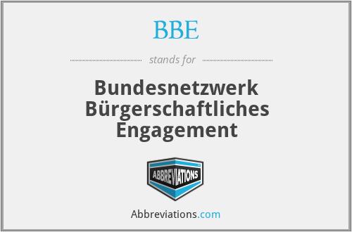 BBE - Bundesnetzwerk Bürgerschaftliches Engagement