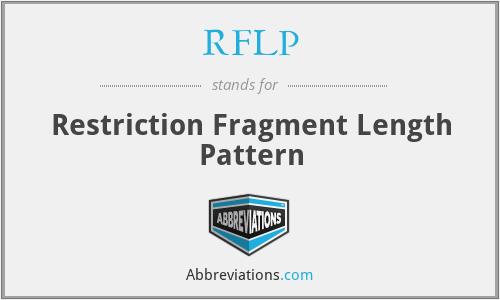 RFLP - Restriction Fragment Length Pattern