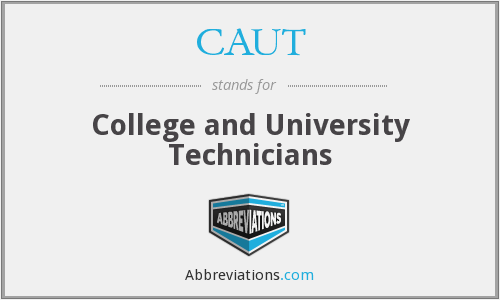 What does CAUT stand for?