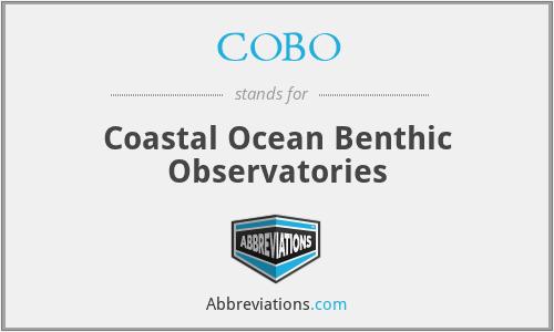 COBO - Coastal Ocean Benthic Observatories