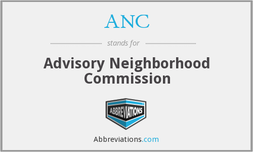 ANC - Advisory Neighborhood Commission