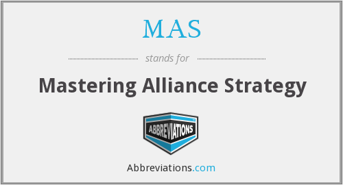 MAS - Mastering Alliance Strategy
