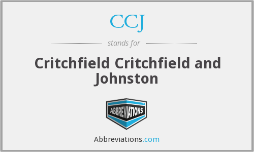 CCJ - Critchfield Critchfield and Johnston