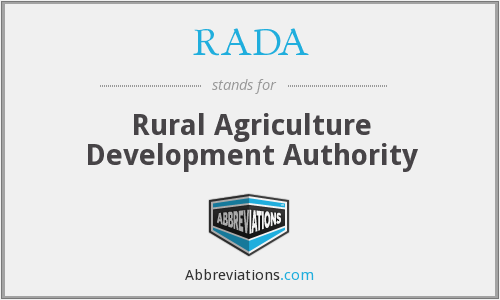 RADA - rural agriculture development authority