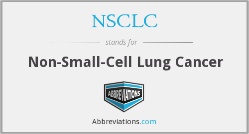 What does NSCLC stand for?