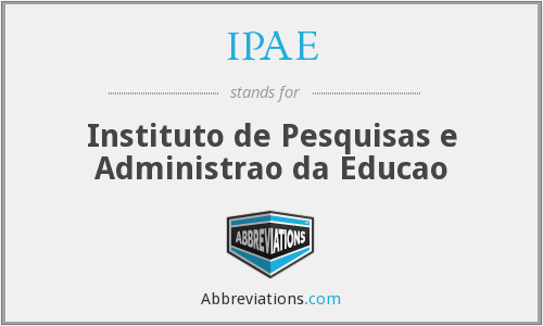 What does IPAE stand for?